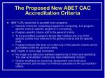 the proposed new abet cac accreditation criteria