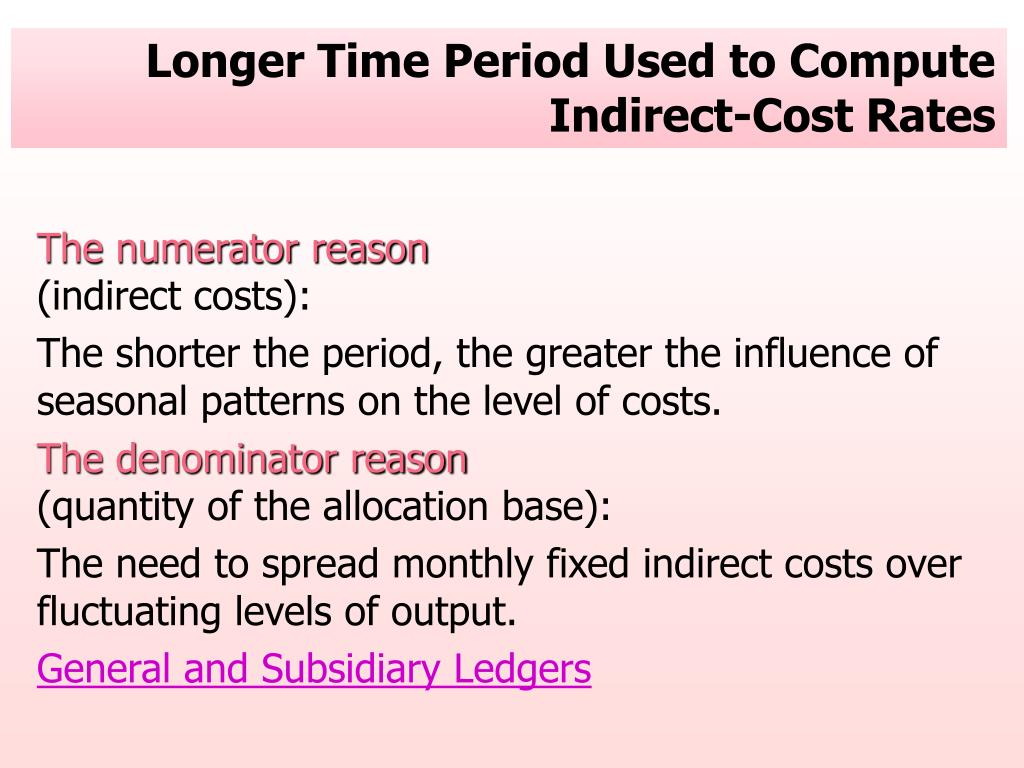 Longer Time Period Used to Compute Indirect-Cost Rates