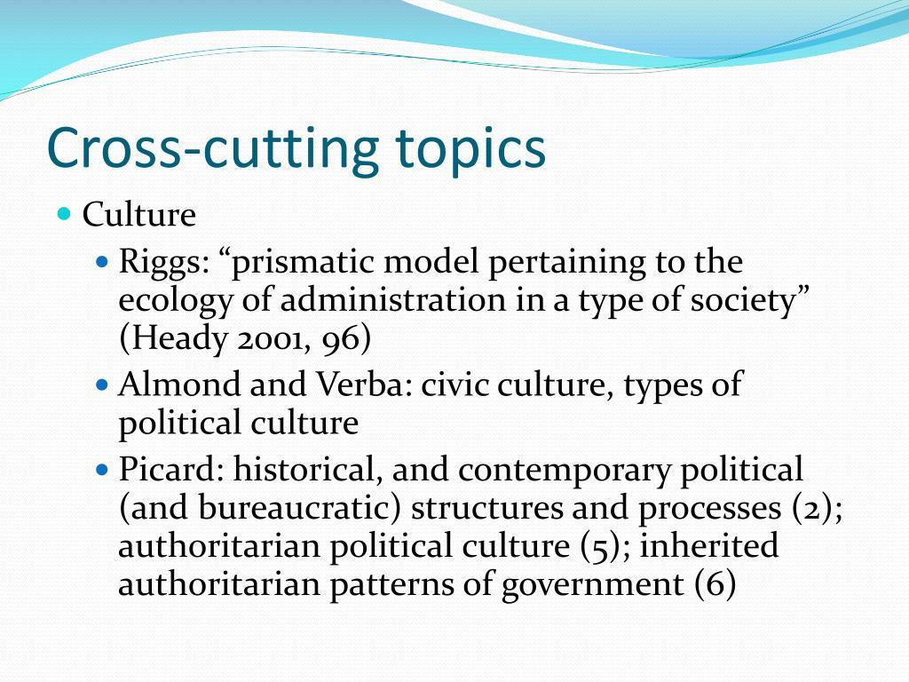 Cross-cutting topics