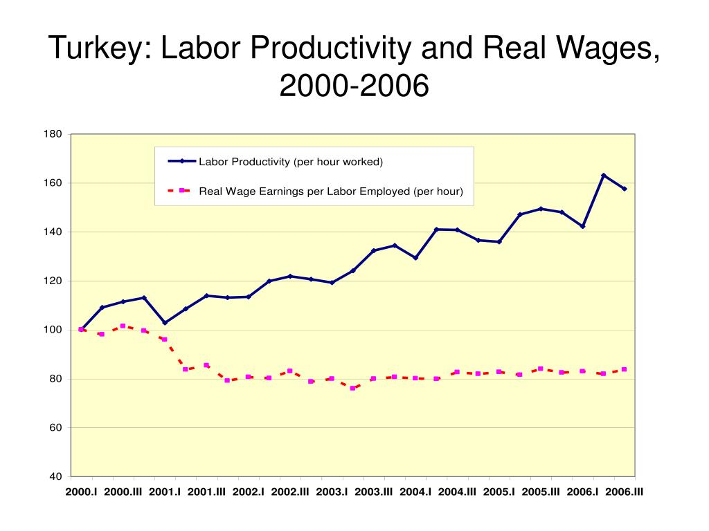 Turkey: Labor Productivity and Real Wages, 2000-2006