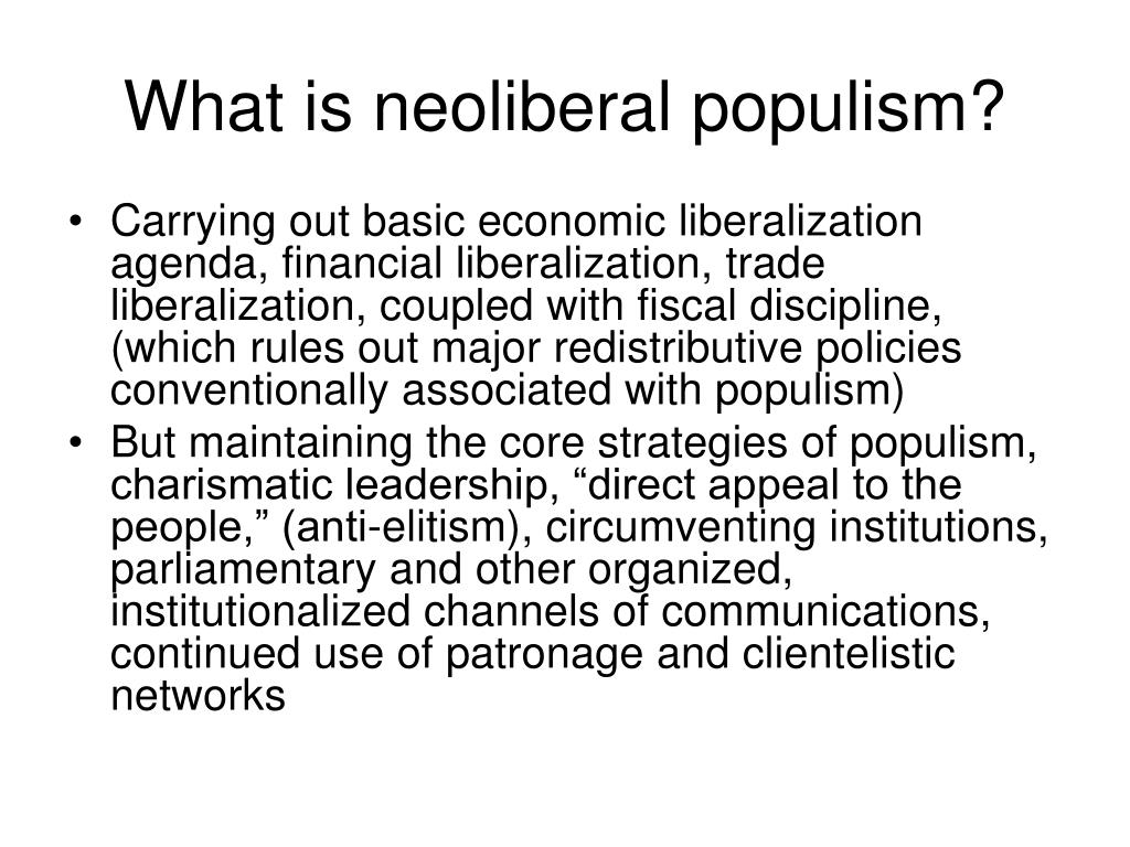 What is neoliberal populism?