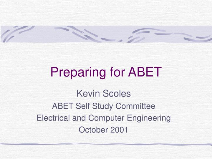 preparing for abet n.