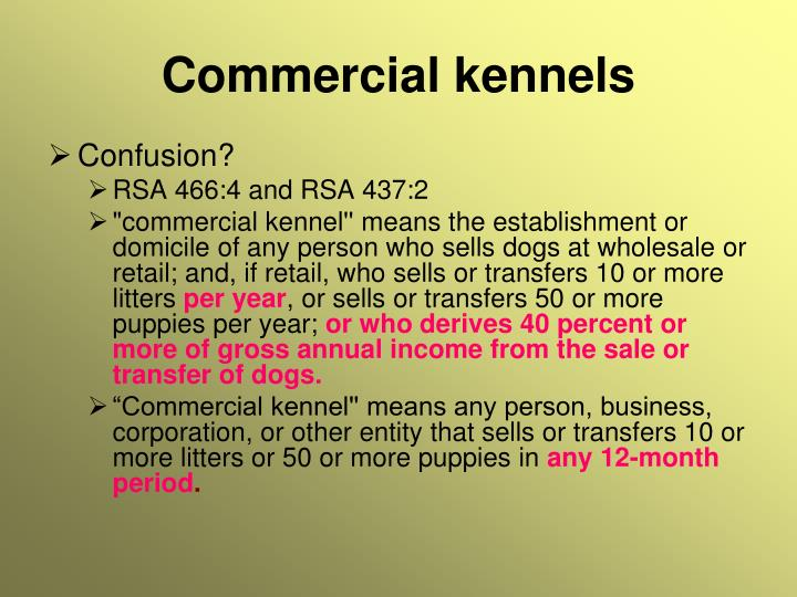 Commercial kennels