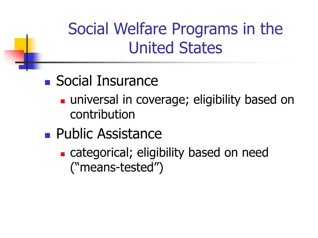 social welfare programs