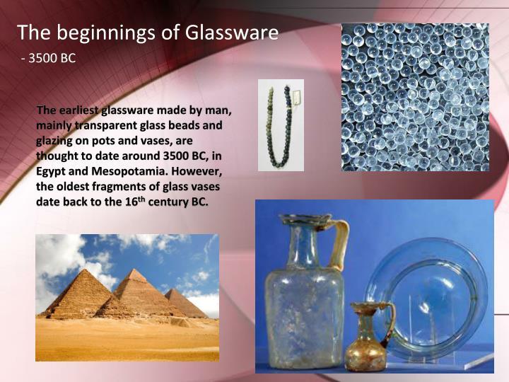 The beginnings of Glassware