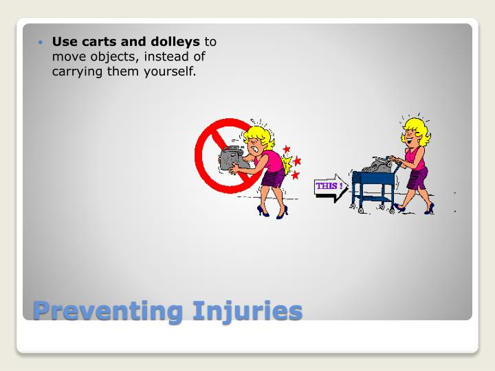 Use carts and dolleys
