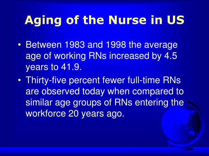 Aging of the Nurse in US