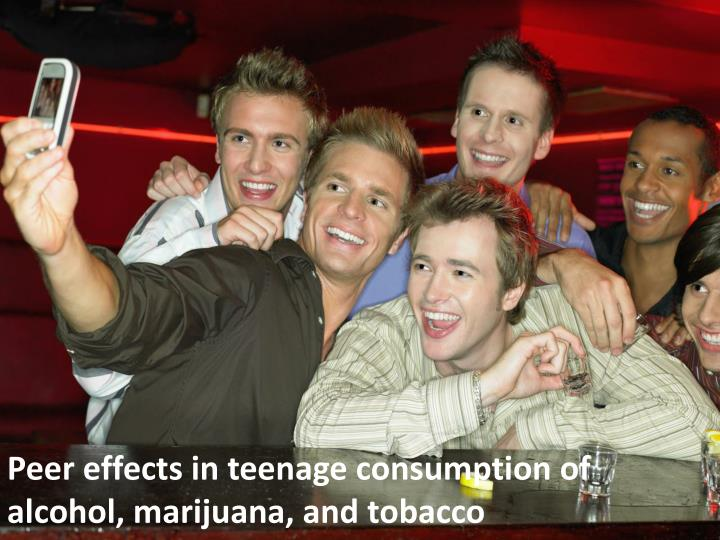 Peer effects in teenage consumption of