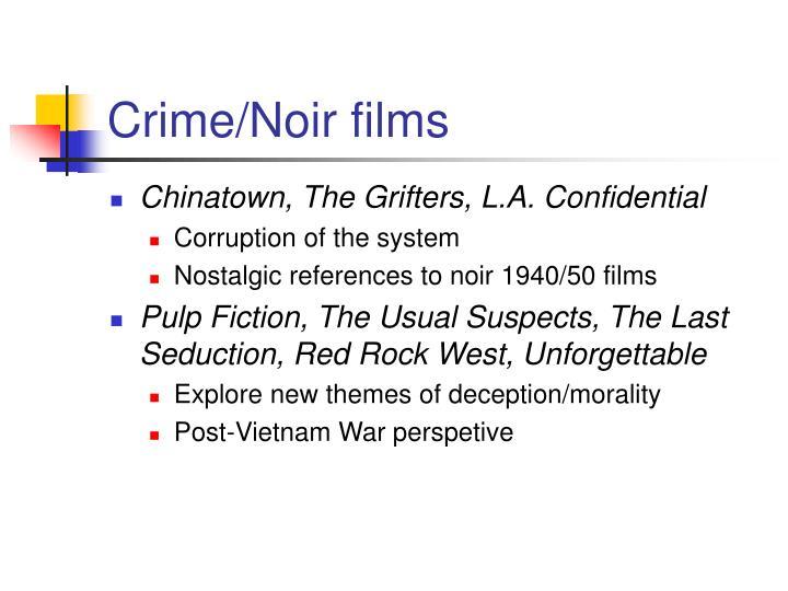 Crime/Noir films