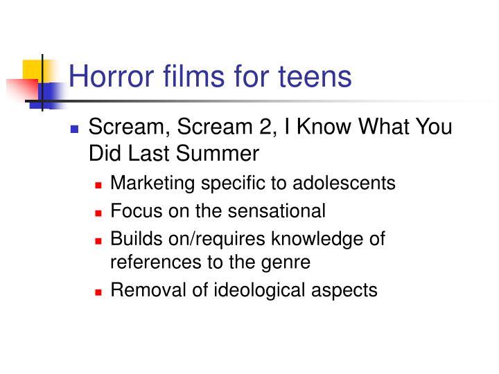 Horror films for teens
