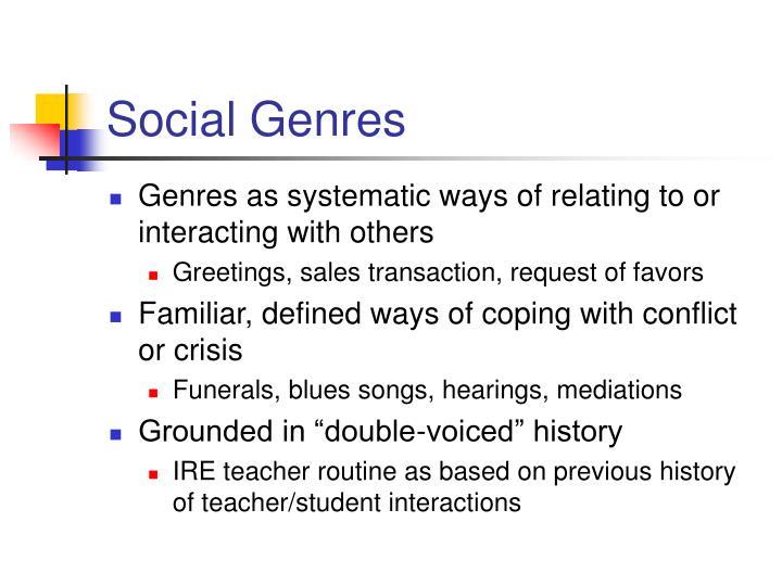 Social genres