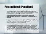 post political populism