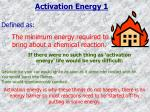 activation energy 1