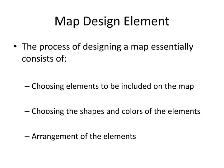 Map design element