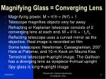 magnifying glass converging lens