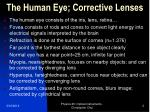 the human eye corrective lenses
