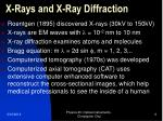 x rays and x ray diffraction