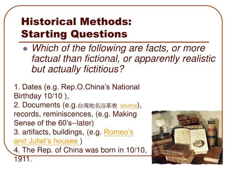 Historical Methods: