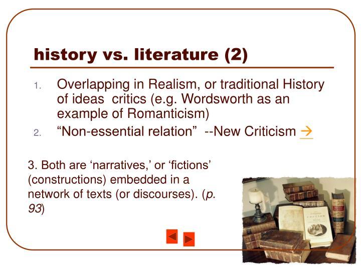 history vs. literature (2)