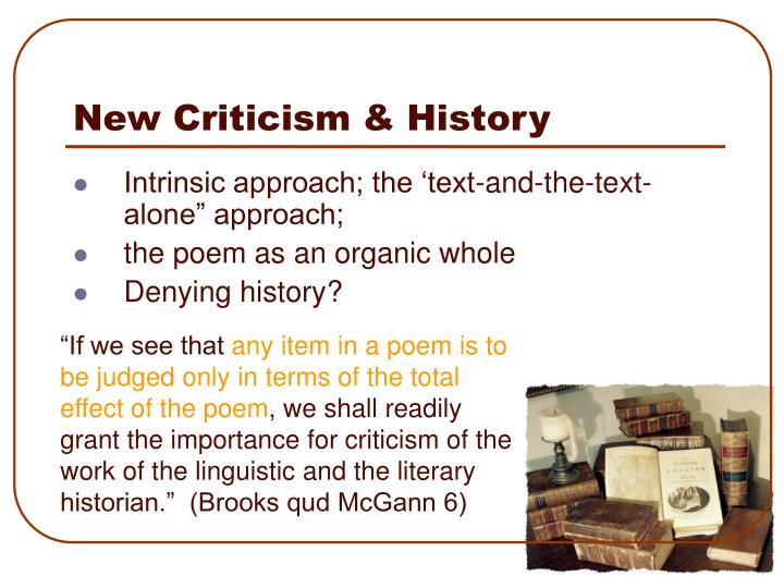 New Criticism & History