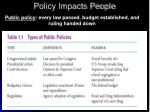 policy impacts people