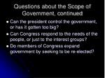 questions about the scope of government continued42