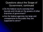 questions about the scope of government continued43