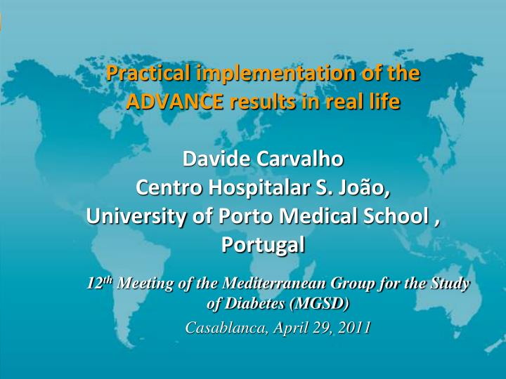 12 th meeting of the mediterranean group for the study of diabetes mgsd casablanca april 29 2011 n.