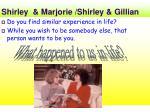 shirley marjorie shirley gillian