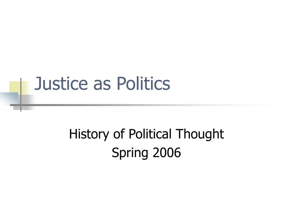 justice as politics l.