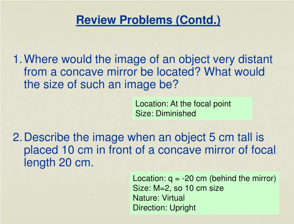 Review Problems (Contd.)