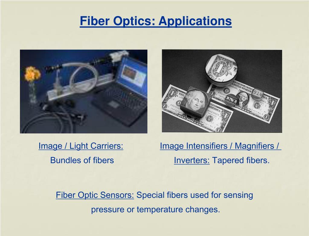 Fiber Optics: Applications