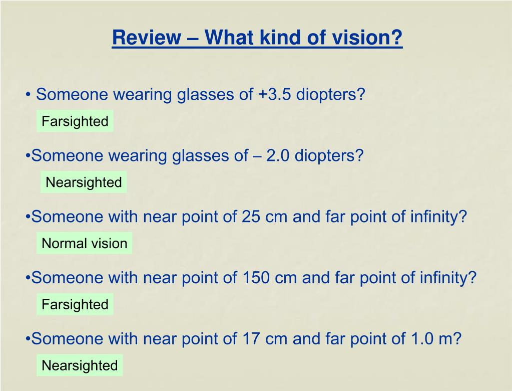 Review – What kind of vision?