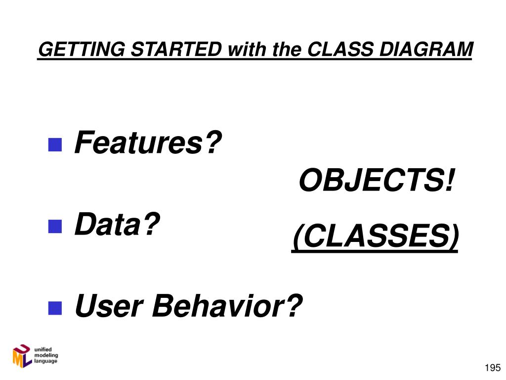 GETTING STARTED with the CLASS DIAGRAM