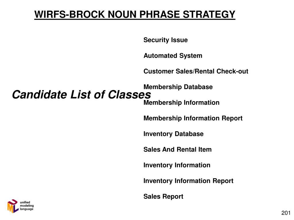 WIRFS-BROCK NOUN PHRASE STRATEGY