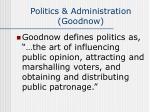 politics administration goodnow3