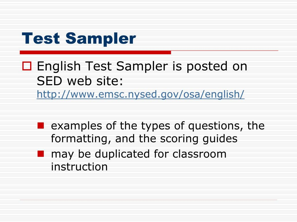 Test Sampler