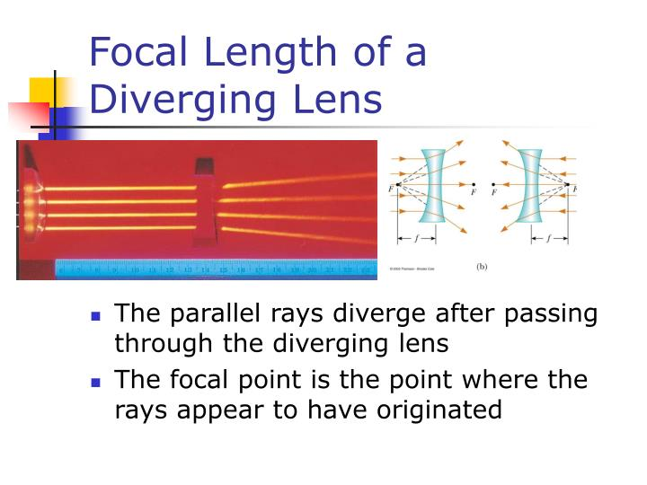 Focal Length of a Diverging Lens