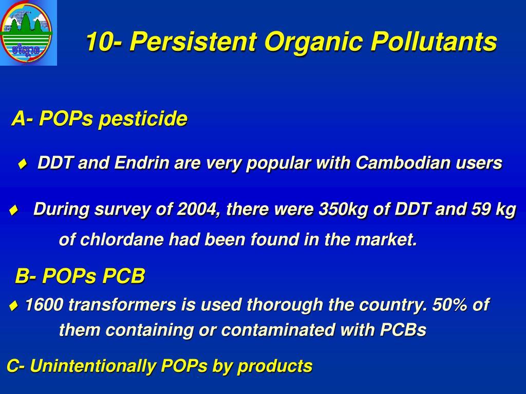 10- Persistent Organic Pollutants
