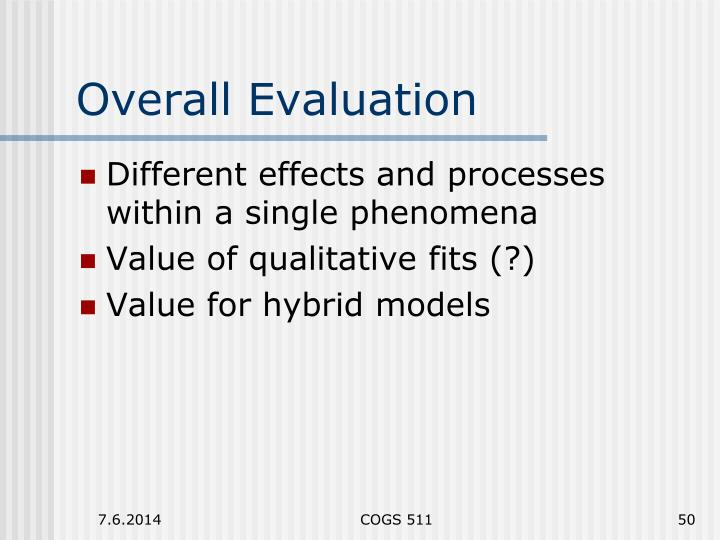 Overall Evaluation