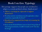 book i on gov typology11