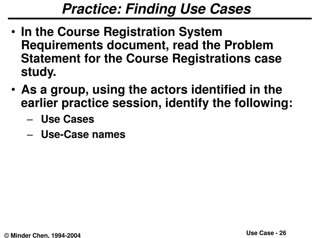 Practice: Finding Use Cases