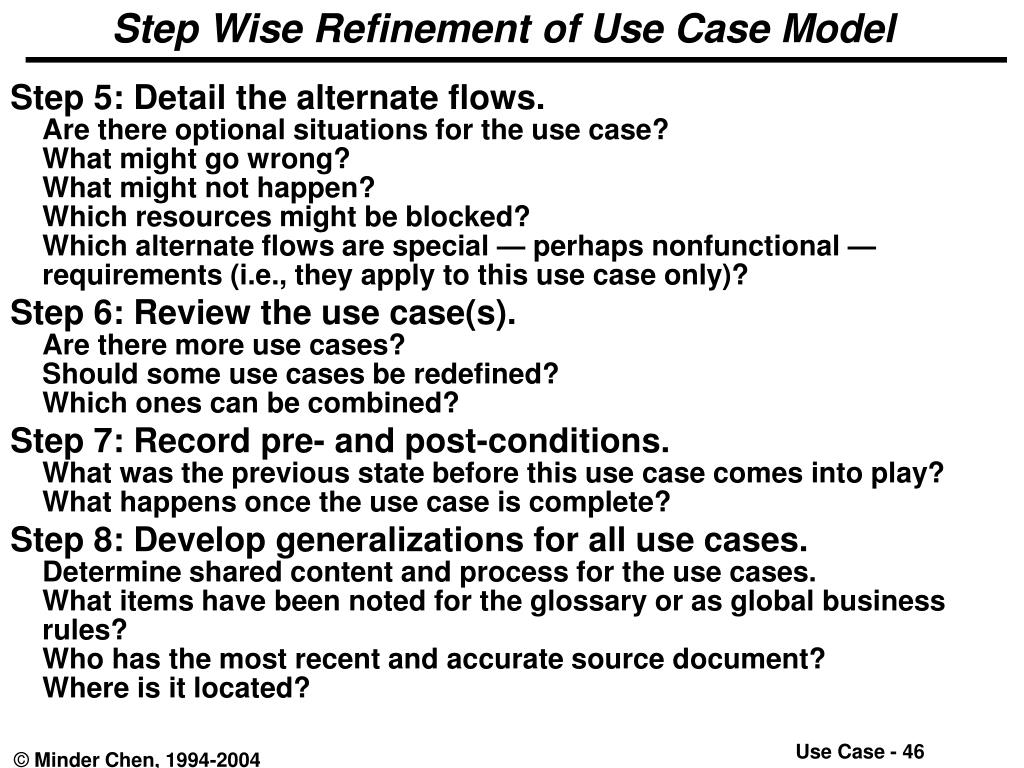 Step Wise Refinement of Use Case Model