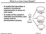 what is a use case model