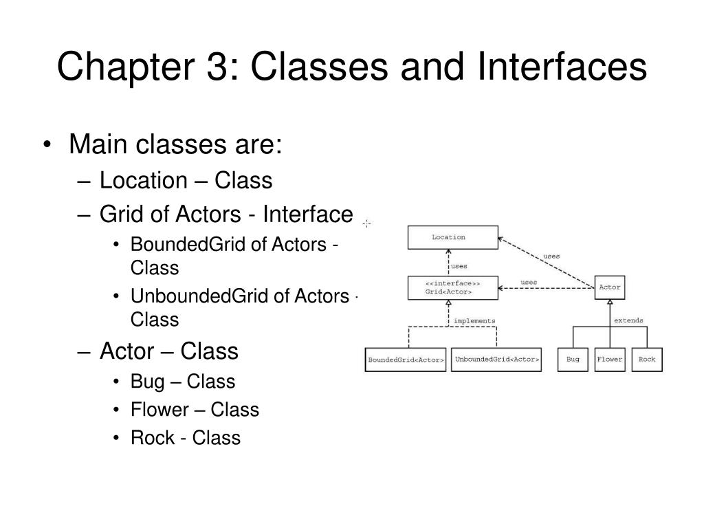Chapter 3: Classes and Interfaces