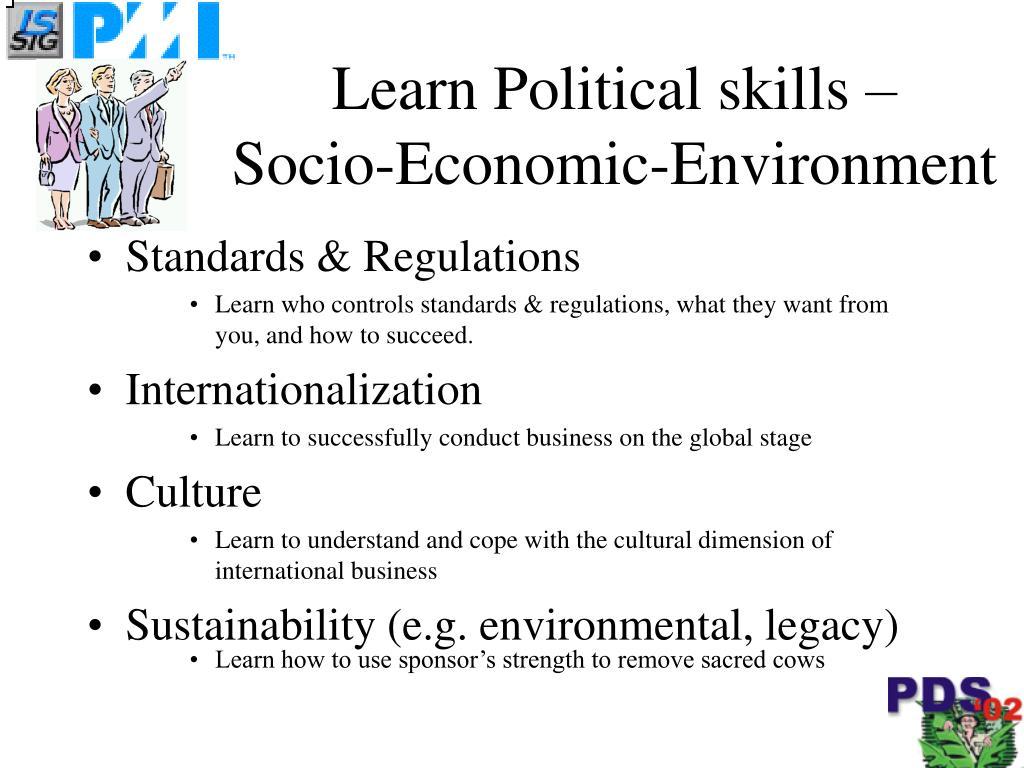 Learn Political skills –