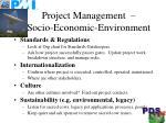 project management socio economic environment