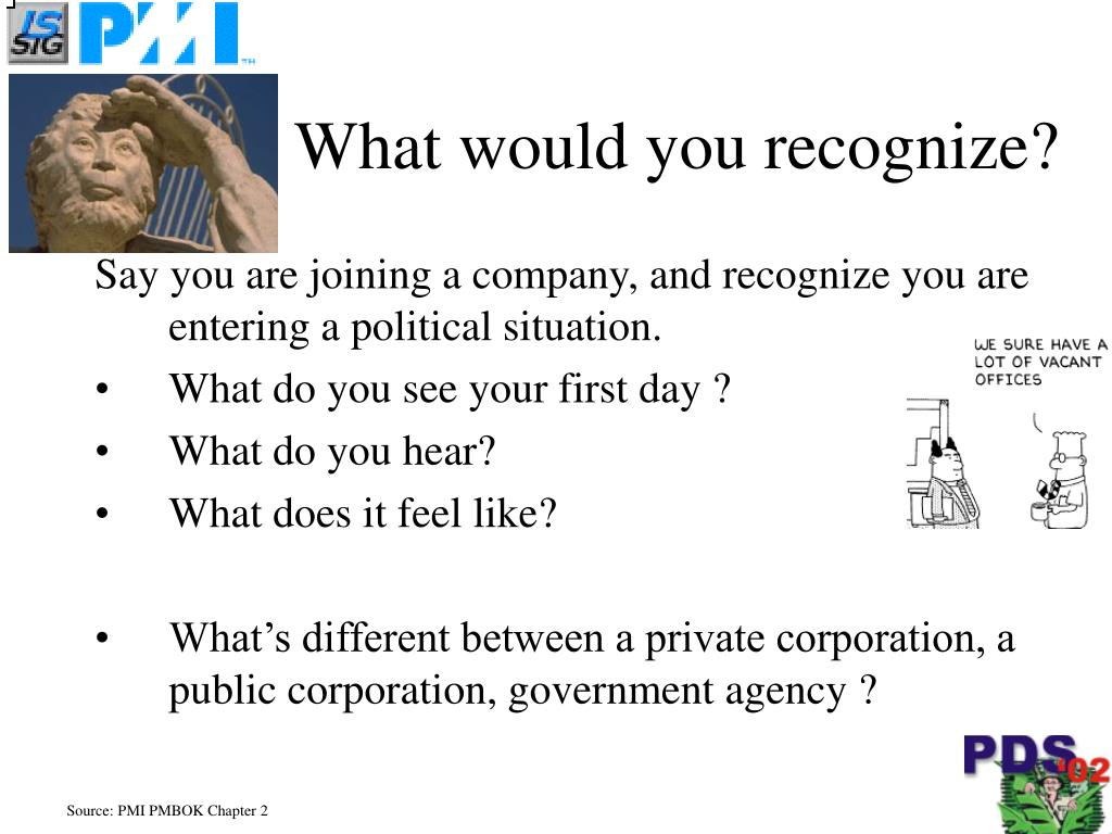 What would you recognize?
