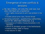 emergence of new conflicts tensions
