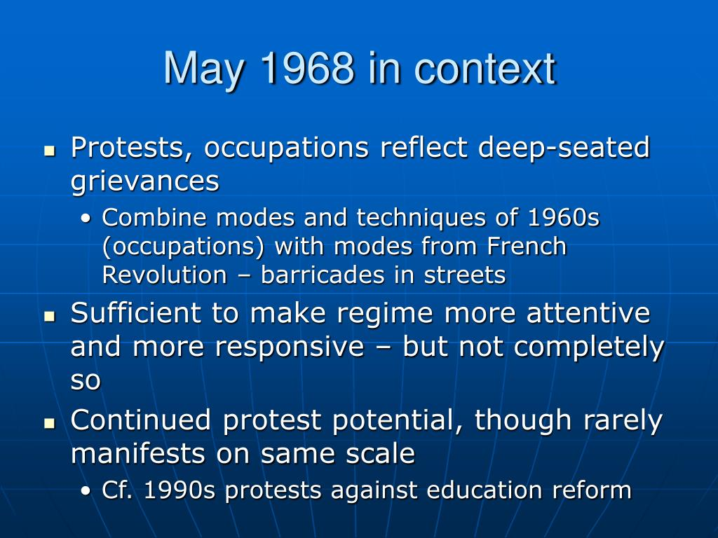 May 1968 in context